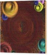 Atomic Haystack Wood Print