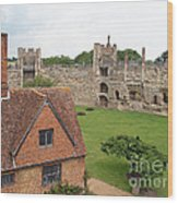 Atop The Castle Wall Wood Print
