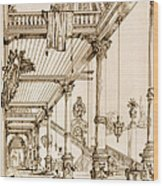 Atrium Of A Palace, In Genes, From Art Wood Print