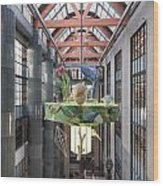 Atrium Of The Central Library In Los Angeles Wood Print