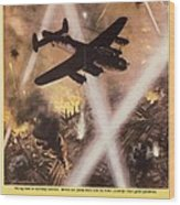 Attack Begins In Factory Propaganda Poster From World War II Wood Print