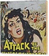 Attack Of The Jungle Women, 1959 Wood Print