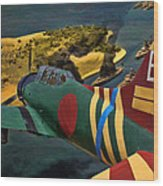 Attack On Battleship Row Wood Print