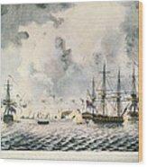 Attack On Fort Mifflin, 1777 Wood Print
