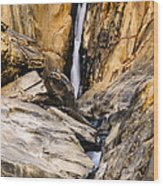 Attagar Falls In Western Ghats Wood Print