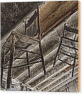 Attic Seating Wood Print