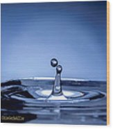 Attraction Water Droplets Wood Print