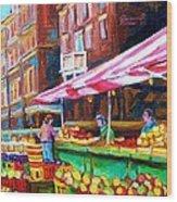 Atwater Market   Wood Print