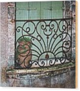 Au Balcon Wood Print