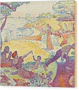 Au Temps Dharmonie Wood Print