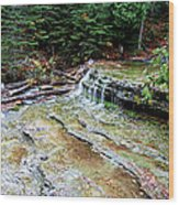 Au Train Falls II Wood Print