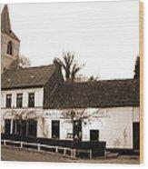 Auberge De La Roseraie Wood Print