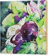 Aubergine Mirage Wood Print