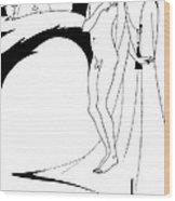 Aubrey Beardsley Woman In The Moon Wood Print