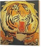 Auburn Tiger Wood Print