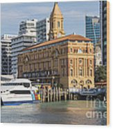 Auckland Ferry Terminal Wood Print