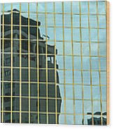 Auckland Reflection Wood Print