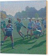 Auckland Rugby Wood Print by Terry Perham