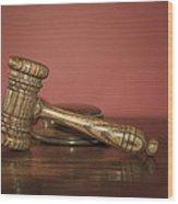 Auction Hammer Wood Print by Svetlana Sewell