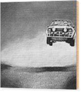 Audi Quattro Flying Wood Print by Gabor Vida