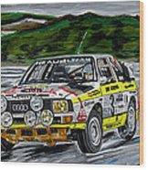 Audi Quattro Wood Print
