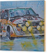 Audi Quattro On The Rocks Wood Print