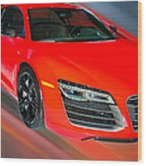 Audi R8 V10 Plus Quattro Coupe 2014 Wood Print