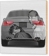 Audi S5 Laid Back Copenhagen Wood Print by Jan W Faul