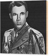Audie Murphy Wood Print