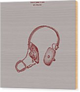 Audio Headphone Patent 1963 Wood Print