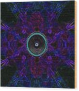 Audio Purple Glow Wood Print
