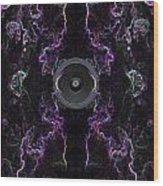 Audio Purple Neon Wood Print