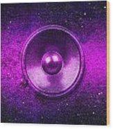 Audio Purple Wood Print