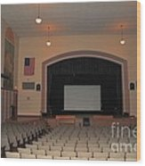 Auditorium In Clare Michigan Wood Print