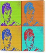 Audrey Hepburn 20130330v2 Four Wood Print