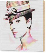 Audrey Hepburn 6 Wood Print