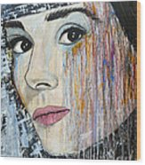 Audrey Hepburn-abstract Wood Print