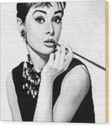 Audrey Hepburn Artwork Wood Print