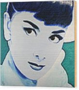 Audrey Hepburn Pop Art Painting Wood Print