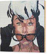 Audrey Hepburn Wood Print by Tom Roderick