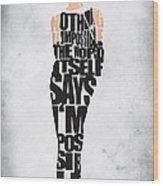 Audrey Hepburn Typography Poster Wood Print