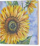 Audrey's Sunflower Wood Print