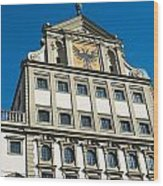 Augsburg Townhall - Rathaus Wood Print