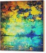 August Evening Wood Print
