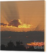 August Sunset Wood Print