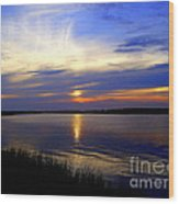 August Sunset Reflection Wood Print