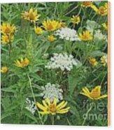 August Wildflowers Wood Print