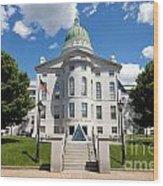 Augusta Capitol Building Wood Print