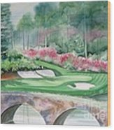 Augusta National 12th Hole Wood Print