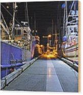 Auke Bay By Night Wood Print